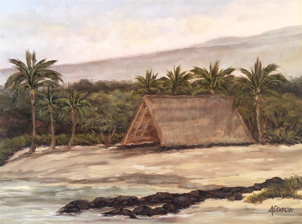"""Early Morning at Honokohau"" original fine art by Jeannie Garcia"