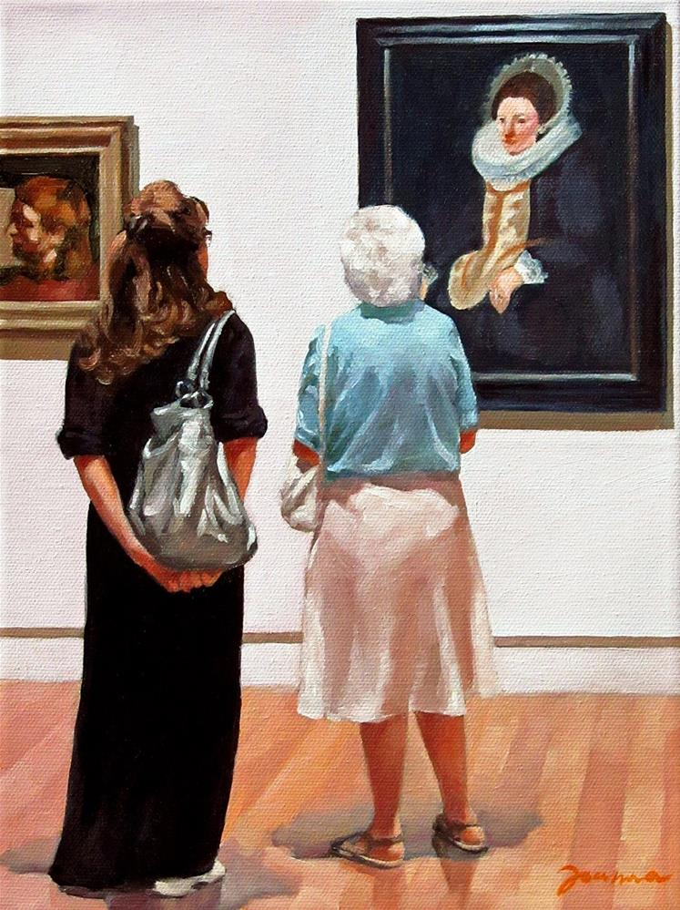 """Ladies Moment--Painting People in Museum/Gallery Series"" original fine art by Joanna Bingham"