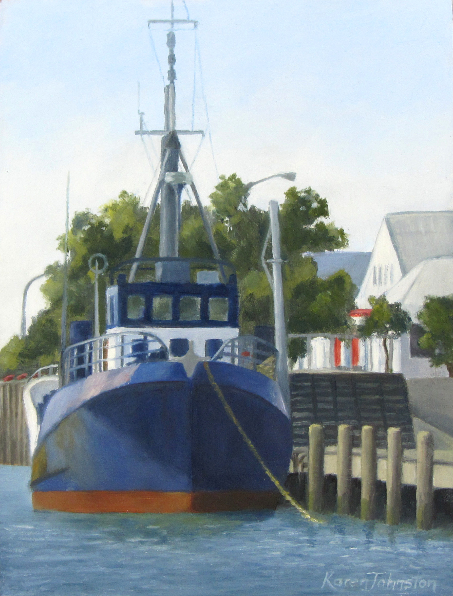 """In Port for the Day"" original fine art by Karen Johnston"
