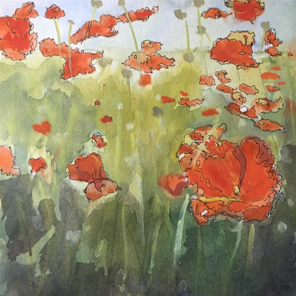 """Poppies"" original fine art by Sheila Wedegis"