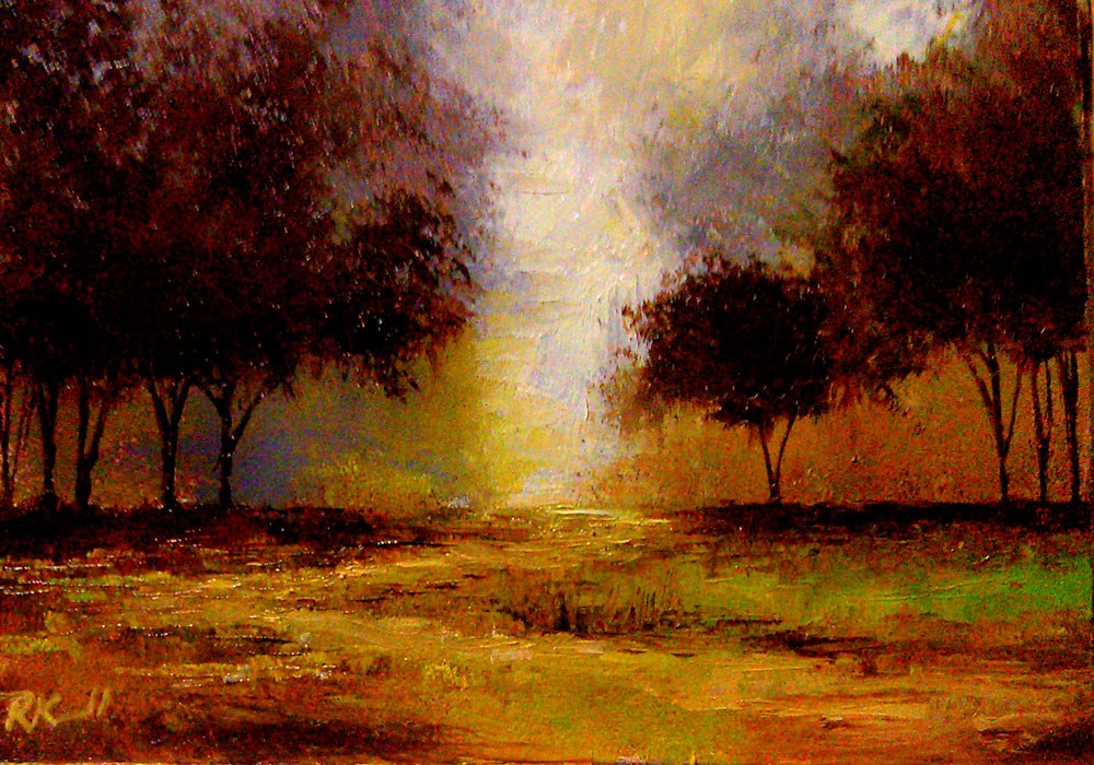 """A Path to the Woods"" original fine art by Bob Kimball"