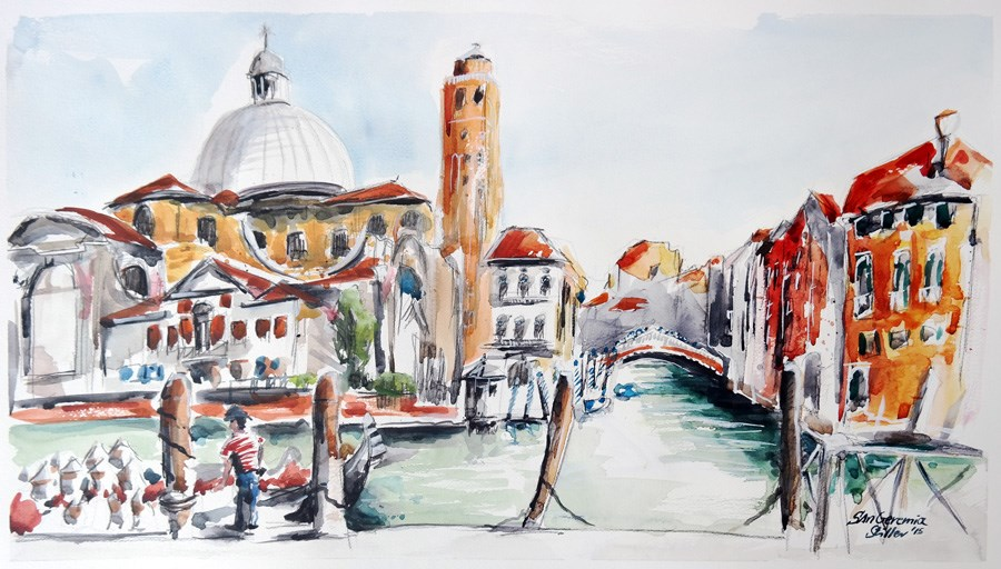 """1360 San Geremia"" original fine art by Dietmar Stiller"