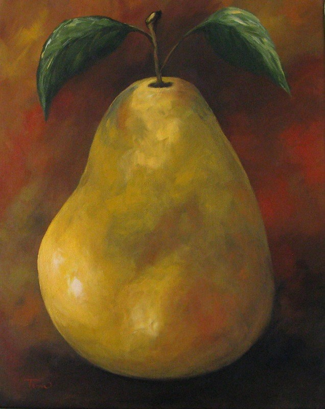"""Southwest Pear II"" original fine art by Torrie Smiley"