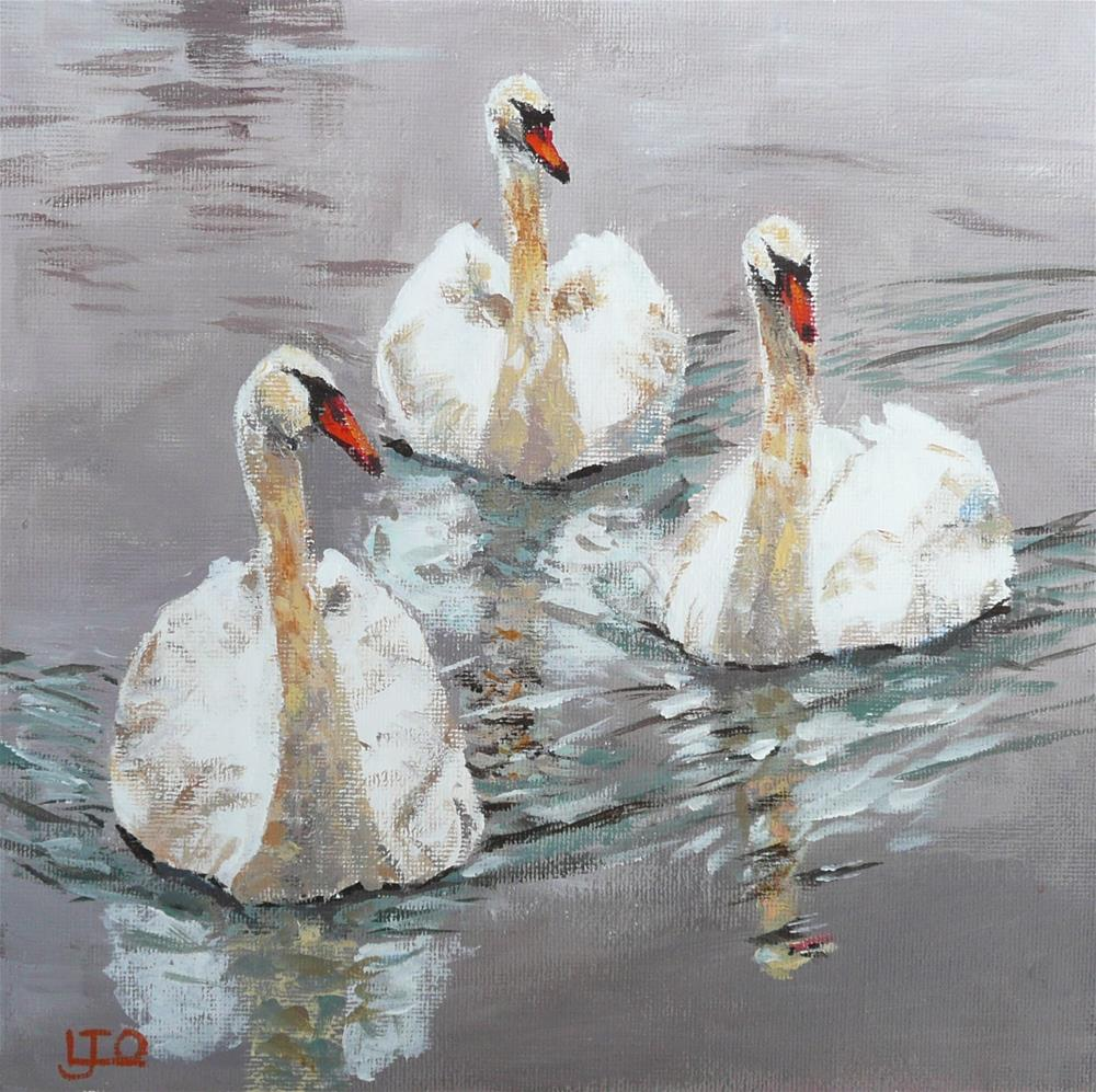 """Swanning Around"" original fine art by Leanne Owen"