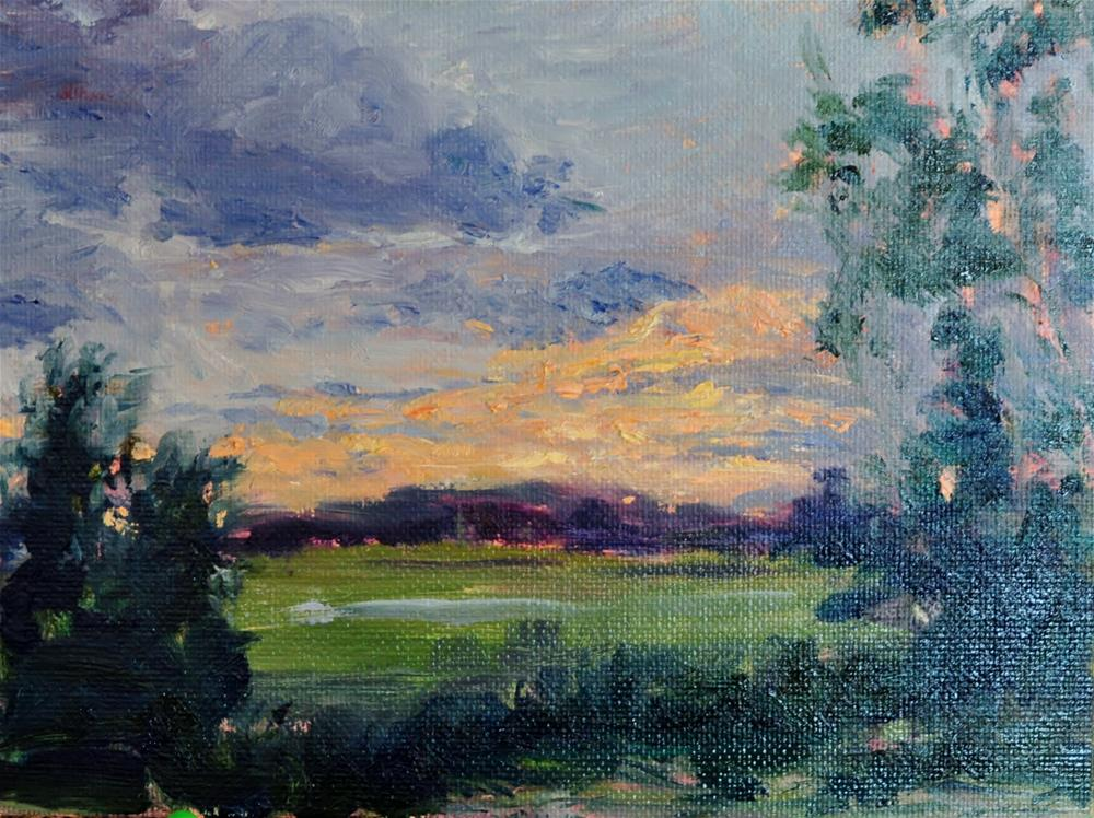 """North Logan Sunset"" original fine art by Catherine Crookston"
