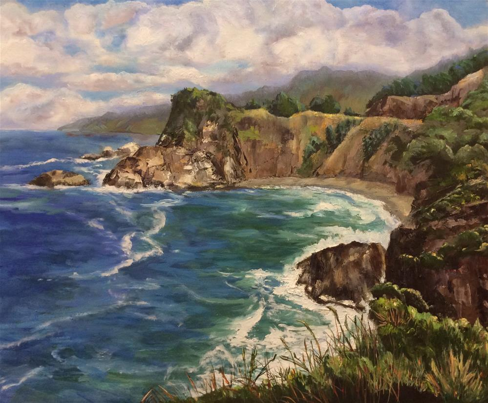 """Southern Oregon Coast"" original fine art by Charlotte Lough"