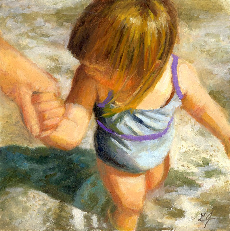 """I'm Here"" original fine art by Linda Jacobus"