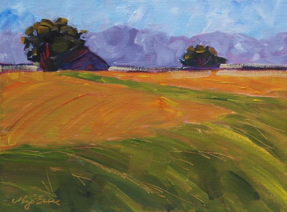 """Amber Waves"" original fine art by Mary Benke"