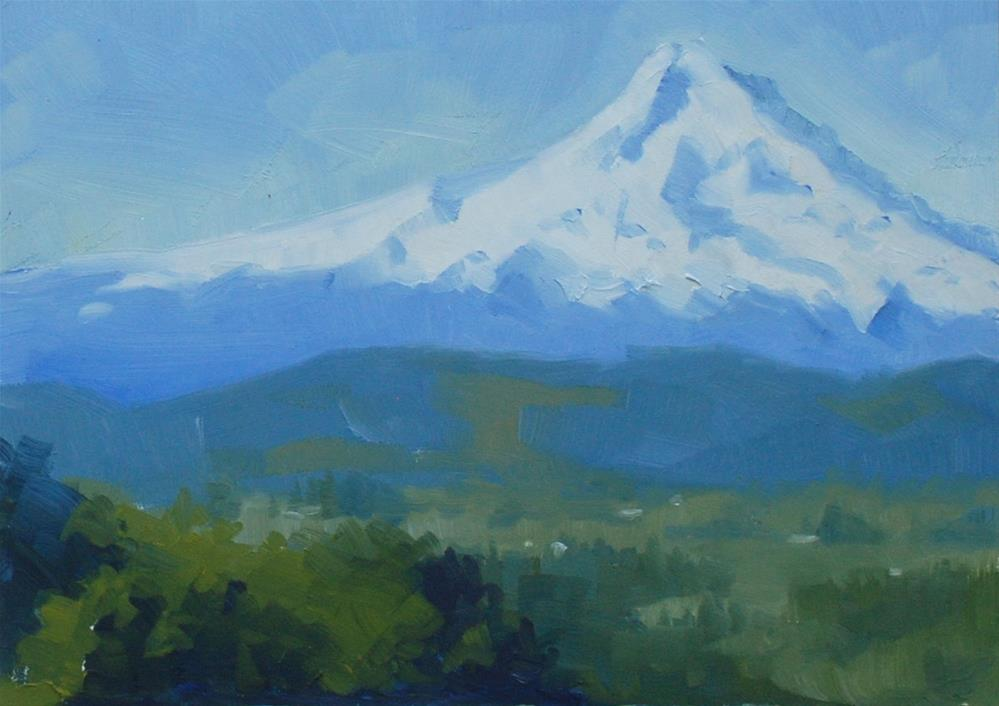 """Room with a View - Mt Hood"" original fine art by Susan McManamen"
