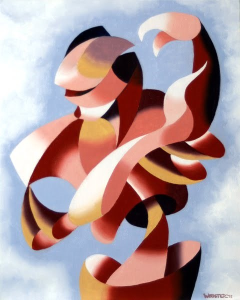 """Mark Webster - Plexus 1 -  Abstract Figurative Gesture Oil Painting"" original fine art by Mark Webster"