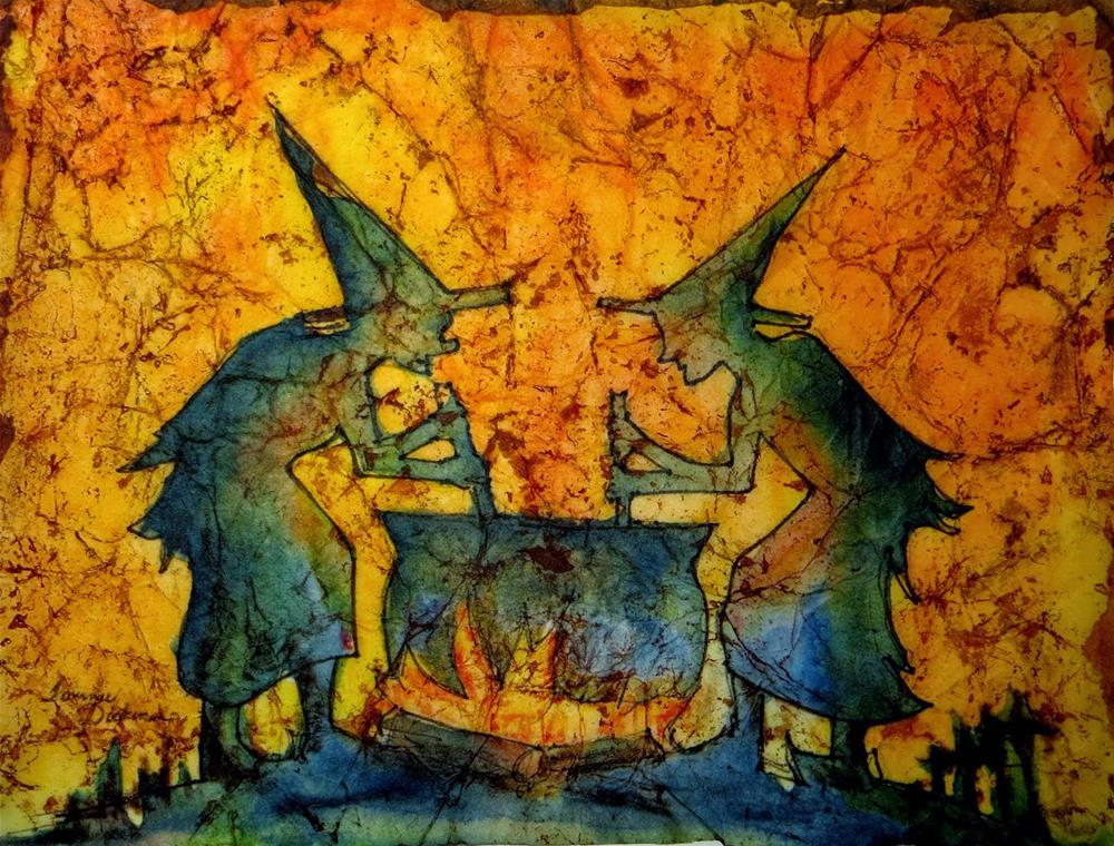 """Witches Brew"" original fine art by Tammie Dickerson"