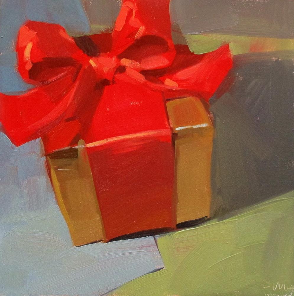 """A Special Gift"" original fine art by Carol Marine"