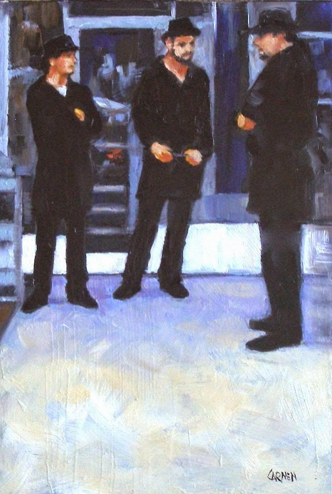 """Hot Cubans, 6x9 Oil on Panel Figurative Painting"" original fine art by Carmen Beecher"
