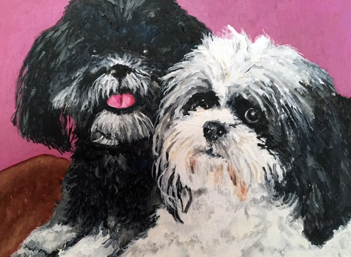 """Suki & Molly"" original fine art by Nan Johnson"