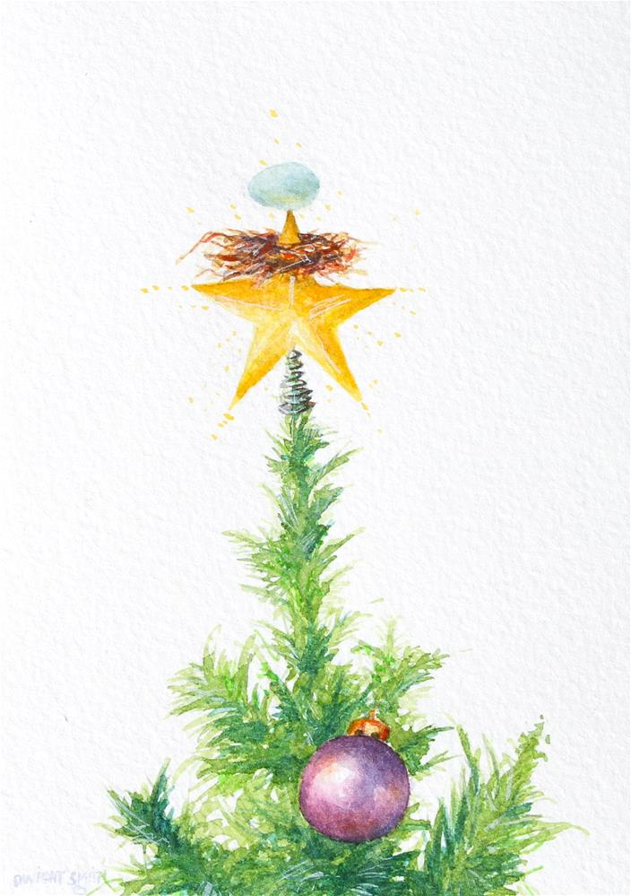 """ THE TREE TOPPER "" original fine art by Dwight Smith"