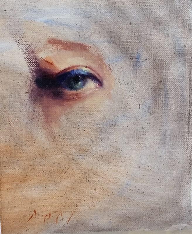 """Eye study"" original fine art by Daniel Peci"