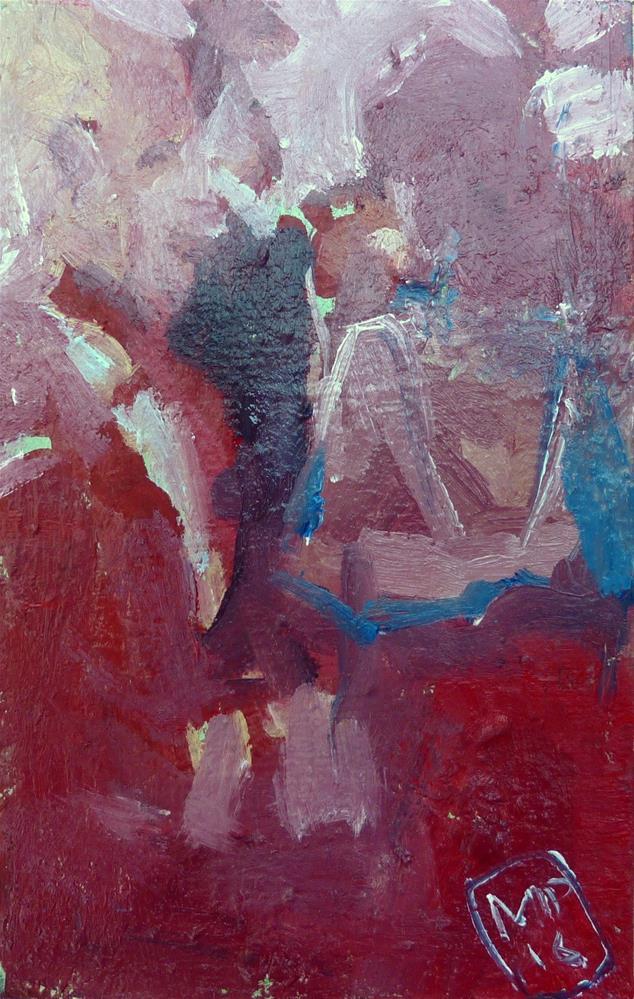 """""""Ein Paar auf einer Party / a couple at a party"""" original fine art by Mila Plaickner"""