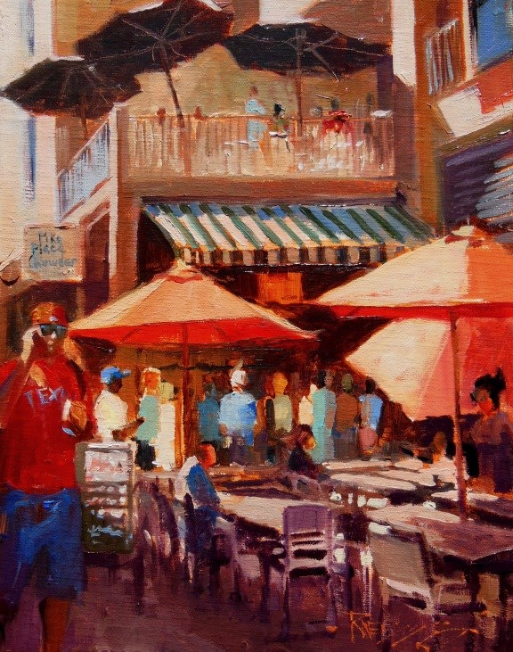 """Pike Place Chowder  plein air, Seattle cityscape by Robin Weiss"" original fine art by Robin Weiss"