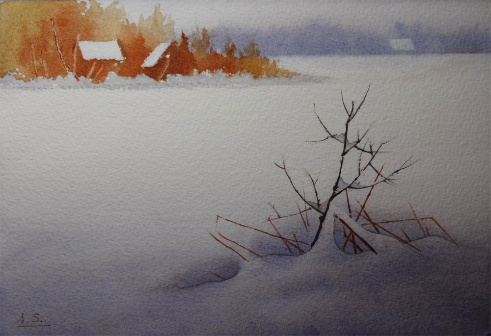 """January Snow"" original fine art by Arena Shawn"