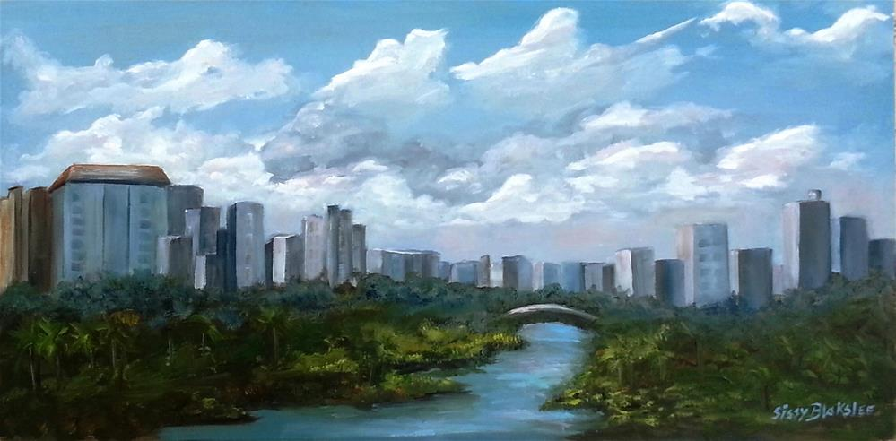 """Miami Sky Plein Air"" original fine art by Sissy Blakslee"