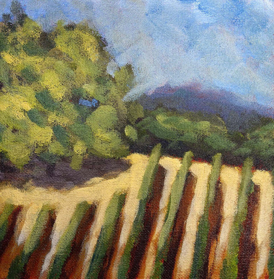 """Styled Vineyard"" original fine art by J. Farnsworth"