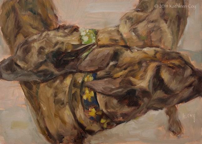 """Day 34 - Greyhounds"" original fine art by Kathleen Coy"