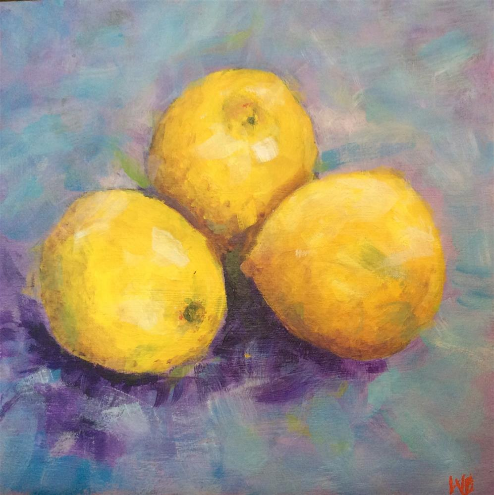 """Lemons"" original fine art by wendy black"