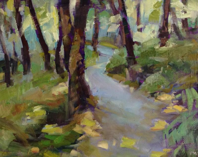"""Ridgeline Trail Tree Dance"" original fine art by Patti McNutt"