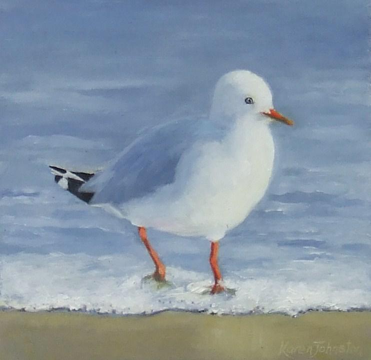 """""""Seagull"""" original fine art by Karen Johnston"""