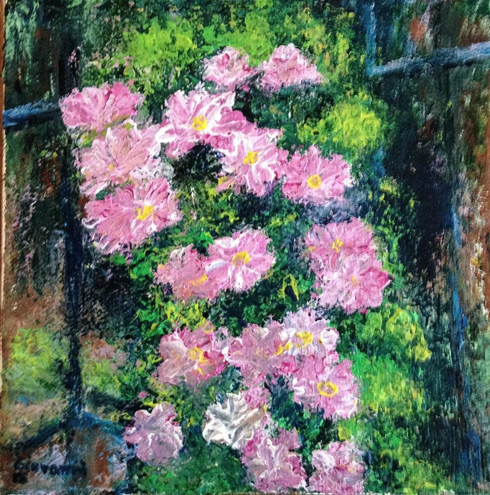 """Flowers at the Mussinger Gardens"" original fine art by Giovanni Antunez"