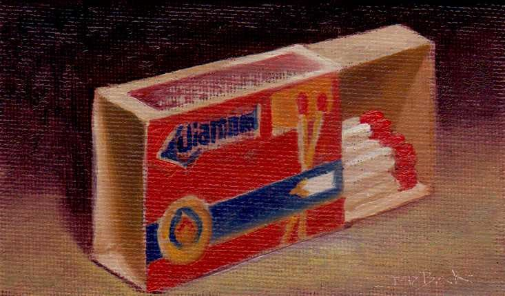 """matchbox"" original fine art by Leo DeBak"