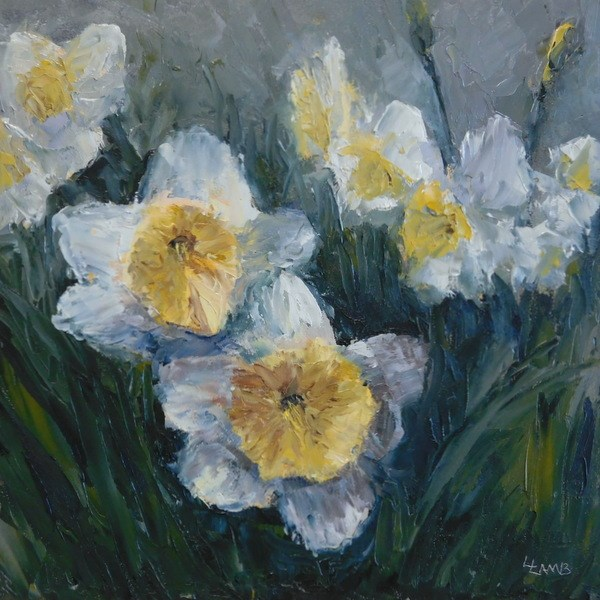 """Daffodil Dreams"" original fine art by Lori L. Lamb"