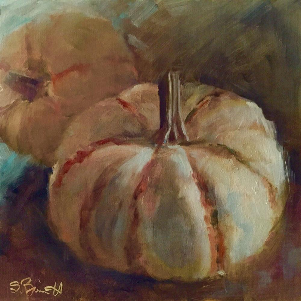 """Sweet Lightening Winter Squash"" original fine art by Sherri Burritt"