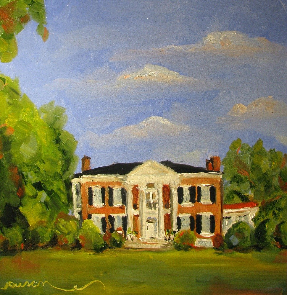 """Sunday Afternoon at Rippavilla Plantation"" original fine art by Susan Elizabeth Jones"