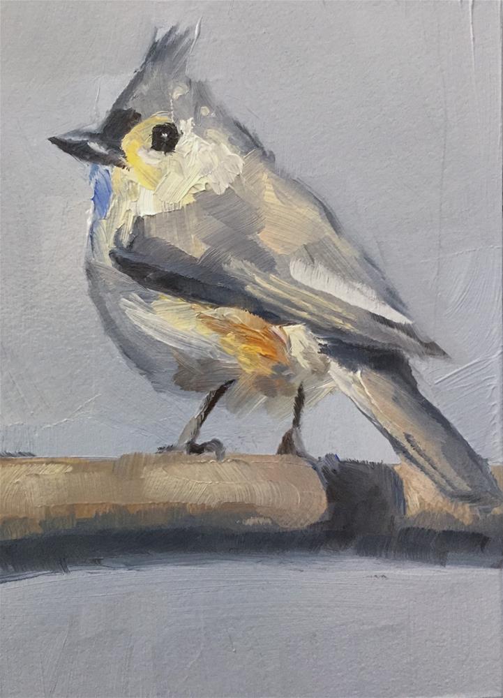 """Perky Titmouse"" original fine art by Gary Bruton"