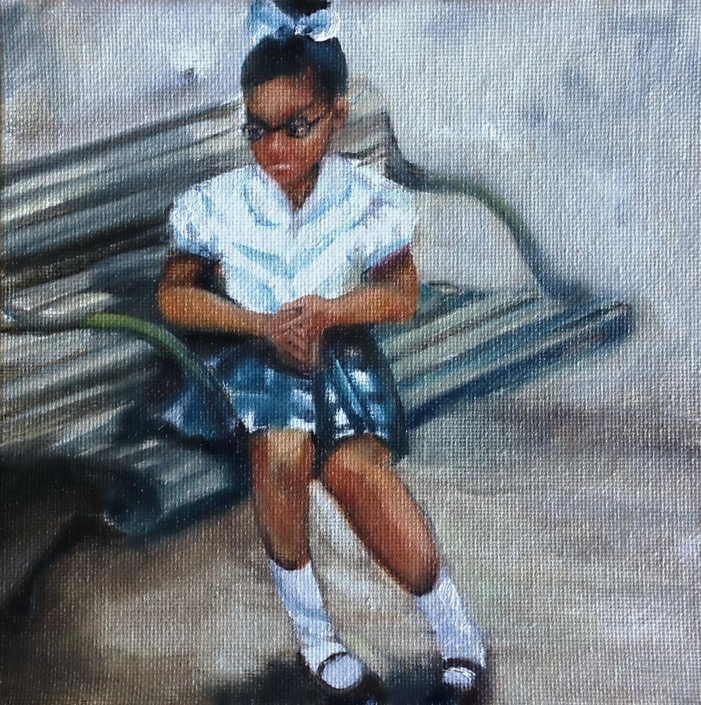 """""""New School Jitters"""" original fine art by Beth Moreau"""