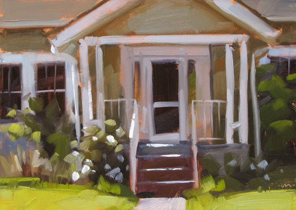 """Home Sweet Home"" original fine art by Carol Marine"