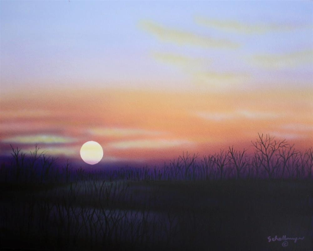"""Sunset (Late January)"" original fine art by Fred Schollmeyer"