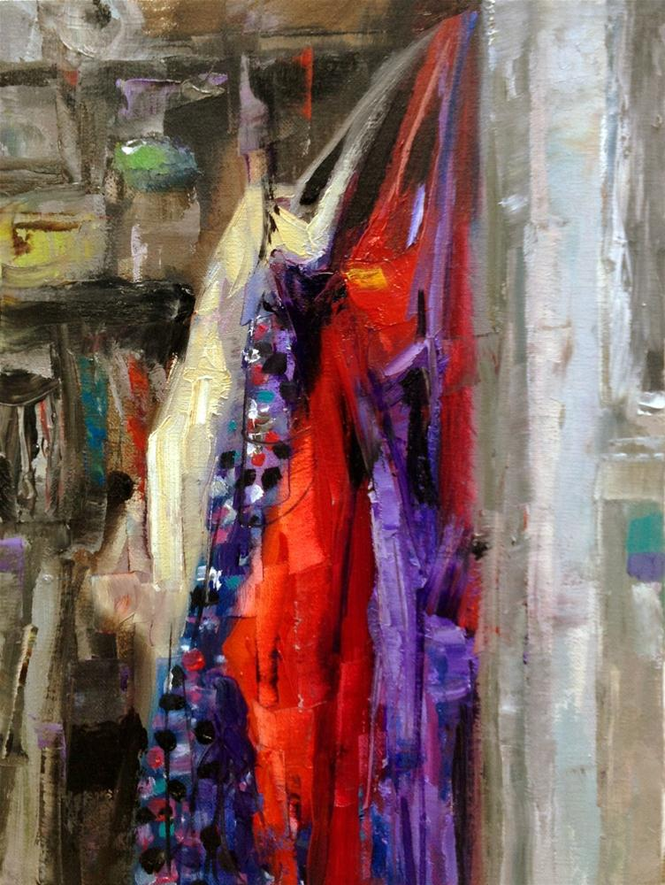 """Closet Aprons"" original fine art by Julie Ford Oliver"
