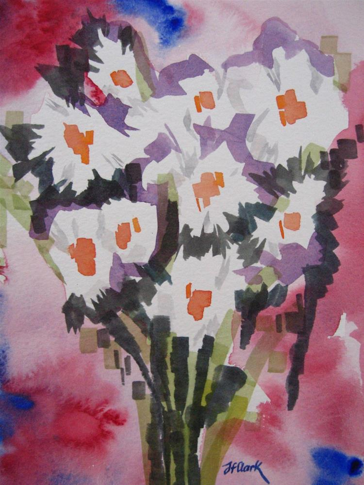"""Marguerites"" original fine art by Judith Freeman Clark"