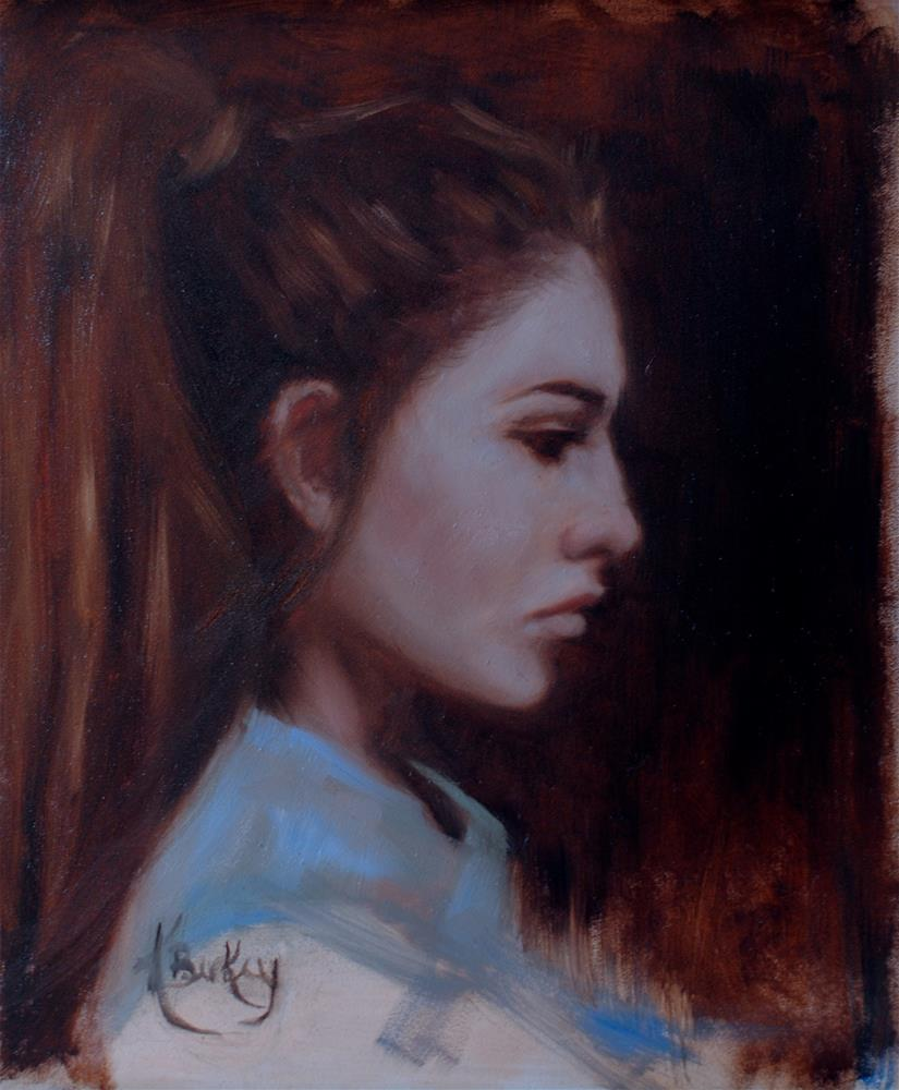 """Profile Study"" original fine art by Kelly Berkey"