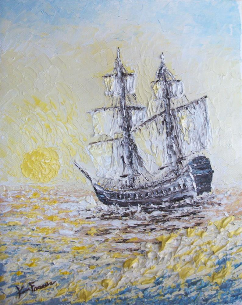 """Sunrise Sail"" original fine art by Ken Fraser"