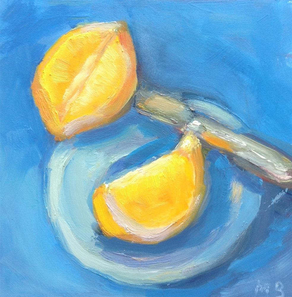 """""""Cut Wide Open"""" original fine art by Marcia Bergtholdt"""