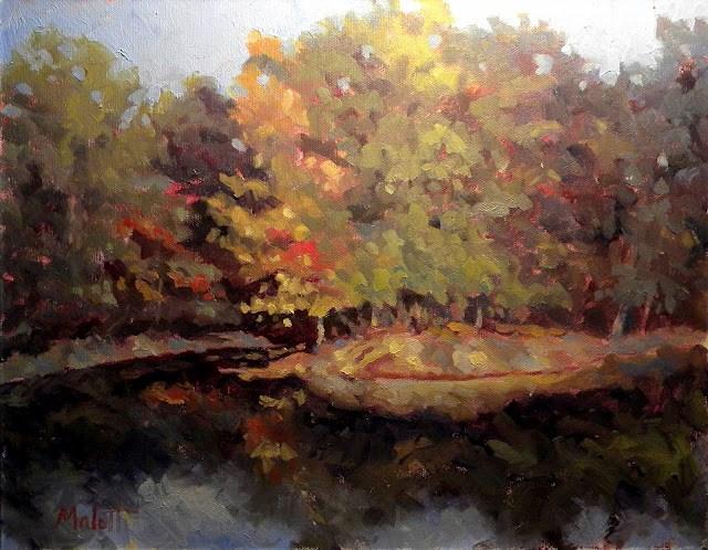 Autumn Island original fine art by Heidi Malott
