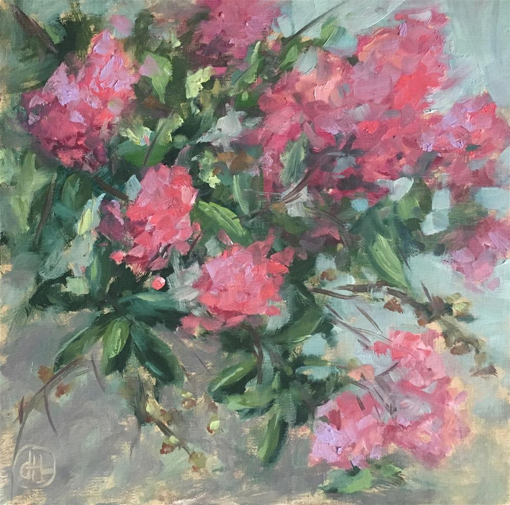 """september pinks"" original fine art by Dottie  T  Leatherwood"