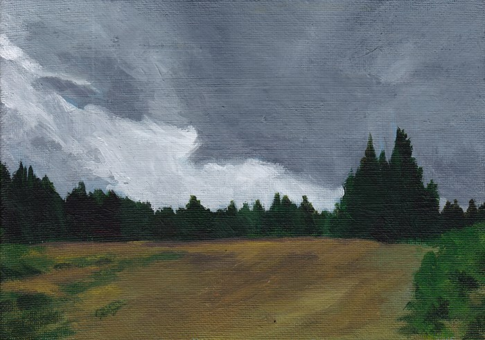 """Dark Clouds"" original fine art by J M Needham"