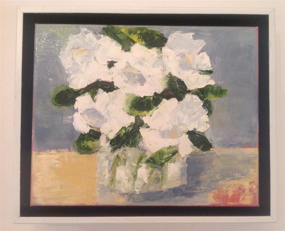 """Floribundas 2"" original fine art by Karen Pinard"