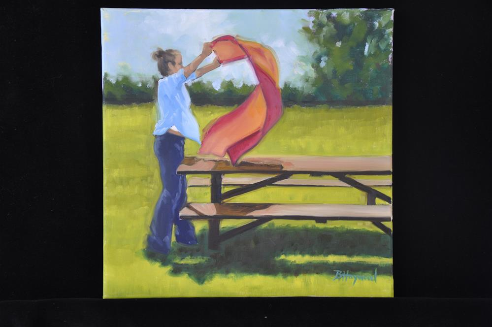 """Picnic Preparations"" original fine art by Beth Haywood"