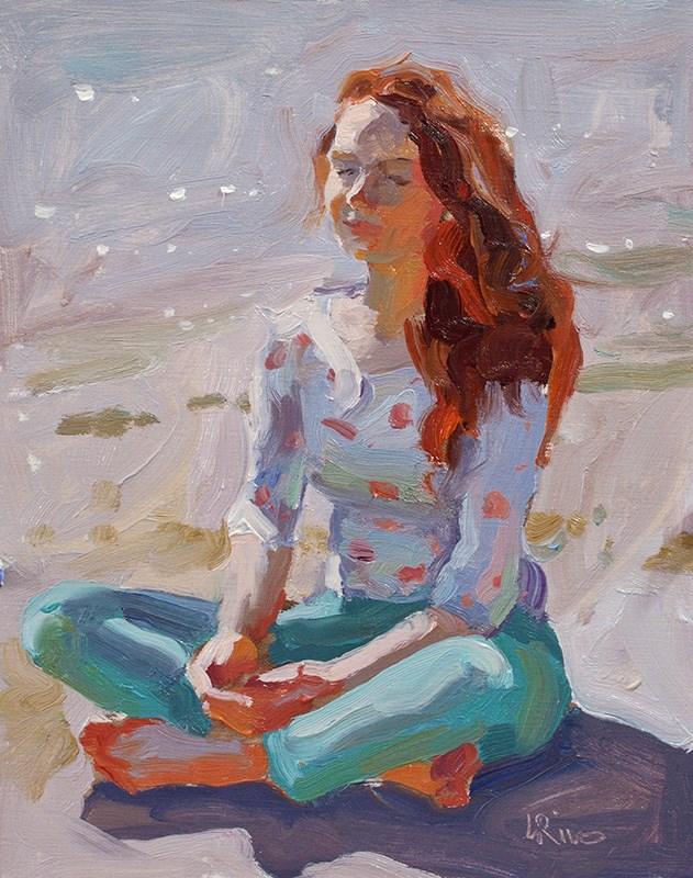 """Red Hair Girl"" original fine art by Lena  Rivo"