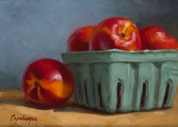 """Nectarines"" original fine art by David Capalungan"